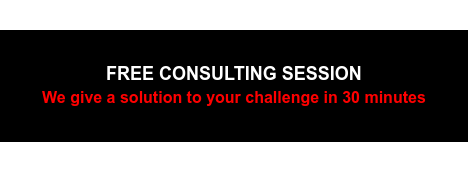 FREE CONSULTING SESSION We give a solution to your challenge in 30 minutes