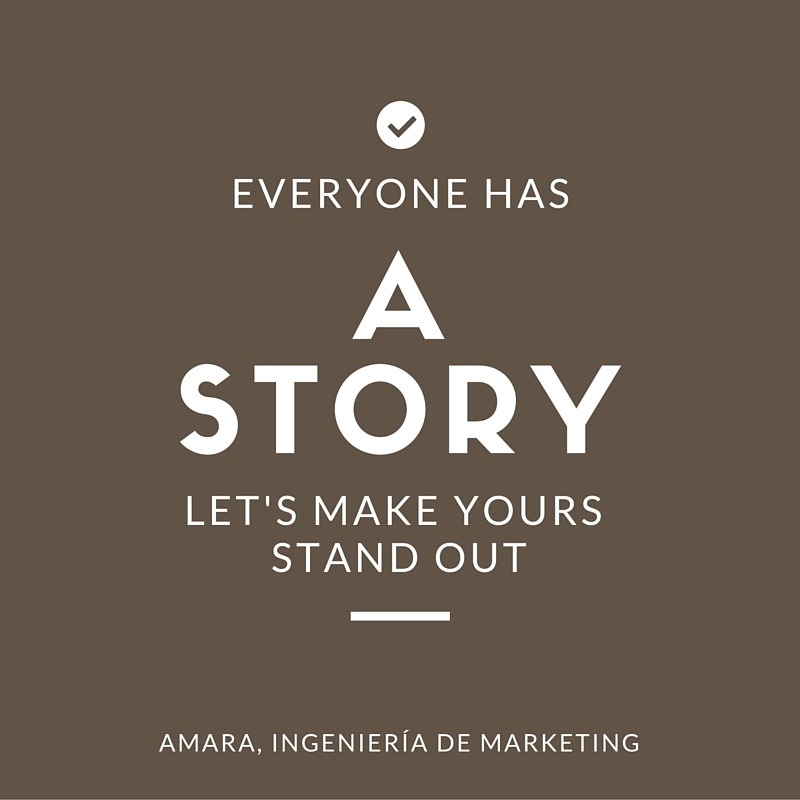 Everyone has a story (story telling)